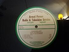 "16 inch Armed Forces Transcription Radio Record ~Background Music~ 16"" SP-973"