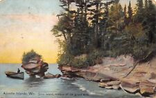 """(202)  Postcard of """"Apostle Islands, Wis."""" Remains of the Great Arch posted 1919"""