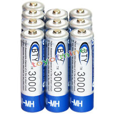 10x AA battery batteries Bulk Nickel Hydride Rechargeable NI-MH 3000mAh 1.2V BTY