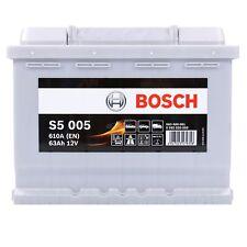 BOSCH S5 005 63Ah 610A 12V AUTOBATTERIE STARTERBATTERIE PKW-BATTERIE 31835395