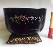 Huge 10'' Tibetan Singing Bowl & Cushion 2 Mallet Large YOGA/ Meditation/Gong