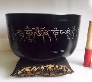 Huge 10'' Tibetan Singing Bowl & Cushion 2 Mallet Large YOGA/ Meditation/Gong
