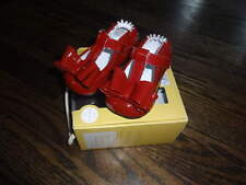 NEW NIB 3 6-9 CRANBERRY RED BOW MAGIC LEATHER SHOES ROBEEZ