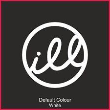 Illest Decals x2, Car, Vinyl, Decal, Sticker, JDM, VW VAG EURO, DRIFT, N2173