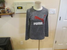 Puma Boys Youth.Large 14/16 gray long sleeve sports athletic shirt Dry Cell L