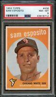 1959 Topps BB Card #438 Sam Esposito Chicago White Sox PSA NM-MT 8 !!!