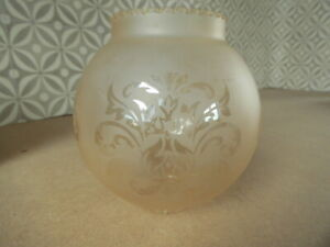 Globe Glass Light frosted (sandy colour) Shade Etched Fluted Frill Edge