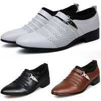 Men Lace Wedding Shoes Italian Formal Breathable Dress Office Work Casual Party