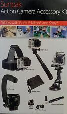 NEW Sunpak Action Camera Accessory Kit For GoPro Nikon KeyMission 360 Sony