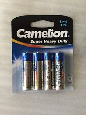 Camelion Super Heavy Duty Long Life 1.5V AA Battery Pack of 4