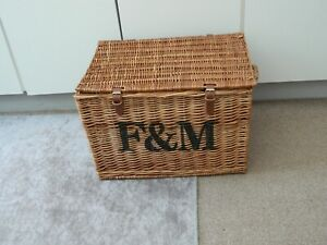 fortnum and mason extra large wicker hamper basket storage/coffee table etc.