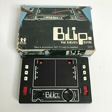 TOMY DIGITAL BLIP LED Vintage Electronic Handheld Arcade Video Game w/ Box
