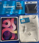 """NEW SEALED iPad Air 4th Gen. 64GB, Wi-Fi, 10.9"""" Rose Gold, With Keyboard & Bag"""