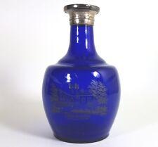 Glas Vase, Kobaltglas, Silber, SALZBRUNN WILHELMSHÖHE FÜRSTENSTEIN um 1850 AL332