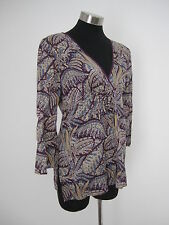 NEW! Sussan Purple & Gold Cotton Tunic Size 14