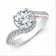 Certified 1.00 Ct Diamond Solitaire Engagement Ring White Gold Finish
