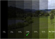 Auto Tönungsfolie Unzerkratzbar 50x300 Fenster Tiefschwarz 20% Sonnenschutzfolie