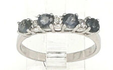 Natural Alexandrite .54tcw & Diamond .03tcw 14kW gold 4 stone ring sz 5.5 NWOT