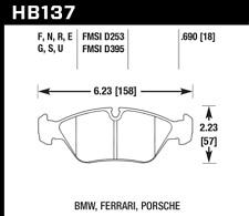 Hawk Disc Front Brake Pad for 15-1991 BMW M3 # HB137N.690