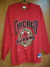 Chicago Bulls Vintage 90s Nutmeg Mills Sewn NBA Basketball Sweatshirt suit Mens