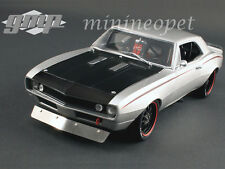 GMP 18806 1967 67 CHEVROLET CAMARO STREET FIGHTER 1/18 DIECAST METALLIC SILVER