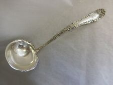 """INTERNATIONAL ROGERS CHEVALIER 1895 SILVERPLATED SOUP LADLE 9 1/2"""" MONOGRAMMED R"""