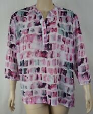 NEW Extra Pepper Pink 3/4 Sleeve Georgette Shirt Top Tunic Plus Size 20 BNWT S14