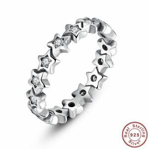 925 Sterling Silver Starshine Star Ring - Choose a Size