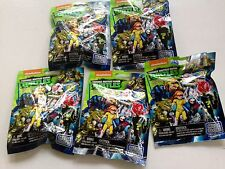Nickelodeon TMNT Mega Bloks Series 3 Figures Blind Bag Lot of 5 Five Sealed NEW