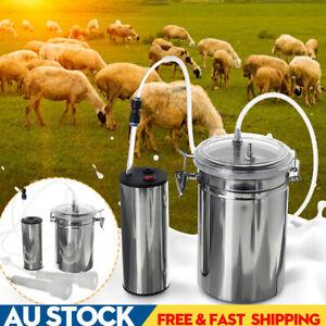 2L Portable Electric Barrel Goat Milking Machine Sheep Milker Vacuum Cattle Farm