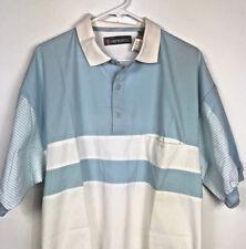 Men's M.E. Sports Imprints Short Sleeve Shirt XL Pull Over Blue White NWT MC188