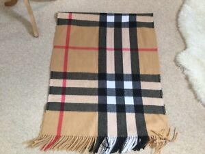 Brown And Black Checked Scarf  - New