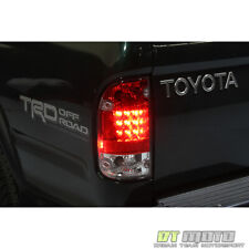 For 1995-2000 Toyota Tacoma Lumileds LED Red Clear Tail Lights 95-00 Left+Right