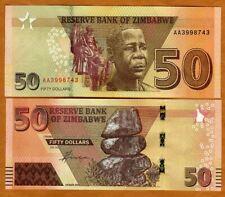 Zimbabwe, 50 dollars, 2020 (2021), P-New, Completely Redesigned, AA-Prefix, UNC