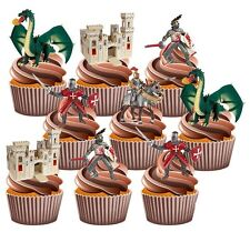 St George's Georges Día - 72 Comestible Stand Up Cup Cake Toppers Decoración Fiesta