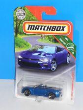 Matchbox 2018 MBX Road Trip #11 '16 Chevv Camaro Convertible Blue