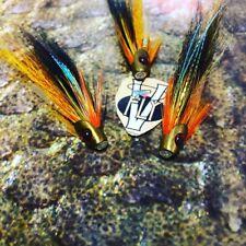 3 V Fly 1//2 Pouces Ultime Skullhead Noir Willie Gunn Salmon Tube Mouche /& crochets
