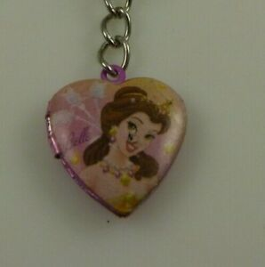 Belle locket Cell phone charm or purse Disney pinks