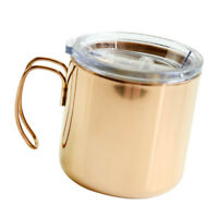 Stainless Insulated Double Wall Travel Camping Coffee Mug Cup Rose Gold