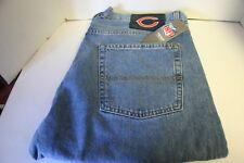 RARE Chicago Bears Mens Classic Light Wash Jeans 36 x 30 NFL Team Apparel - NEW
