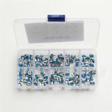 100x 10 value Variable Resistors Potentiometer Assortment Kit + Box 500ohm to 1M