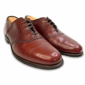 Alden Saddle Oxford Cordovan Size 10 A/C Lace Up Model 992 Burgundy Red Leather
