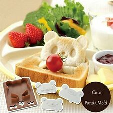 Set of Panda Frog Bear Shapes Sandwich Cutter Mold Bread Toaste Mould Maker DIY