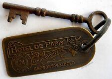 Hotel De Paris Brothel cathouse room key & Tag #E723