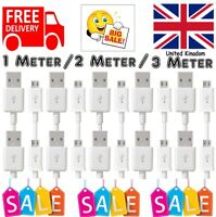 2M 3M Long Micro USB Data Sync Charger Cable Lead For Samsung LG Android Phones