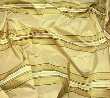 """Gold Stripe - Silk TAFFETA Fabric fat 1/4 18""""x27"""" remnant"""