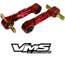 VMS REAR BILLET Adjustable CAMBER ARMS KIT 88-00 CIVIC CRX / 90-01 INTEGRA RED