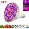 100W LED Grow Light E27 Lamp Bulb fr Plant Hydroponic Full Spectrum 25W 30W 50W