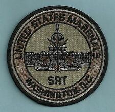 UNITED STATES MARSHAL WASHINGTON D.C. SRT POLICE PATCH GREEN