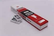 100 Pcs. FEATHER Hi-Stainless Platinum Double Edge Razor Blades + Track